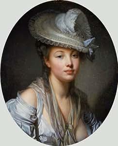 Greuze (jeune femme au chapeau blanc, c.1780 Box Prints Reproduction (11,5 x 14,2 en) (36 x 29 cm