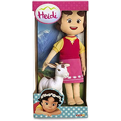 Studio 100 MEHI00000150 - Heidi muñeco de peluche con cabra, 30 cm