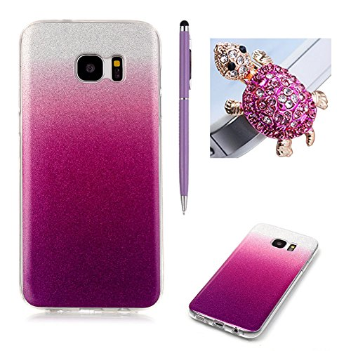 samsung-galaxy-s7-edge-caseskyxd-gradient-color-purple-red-luxury-glitter-slim-thin-premium-flexible