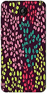 Snoogg Seamless Leaf Pattern Designer Protective Back Case Cover For Micromax Canvas Nitro 3 E455