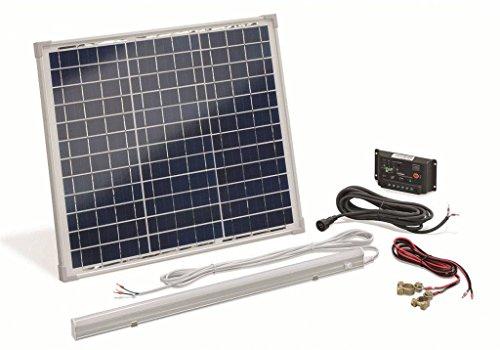 Esotec Solarset Poly 30W/12V +8 W LED La