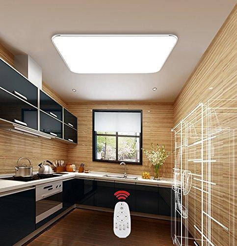 SAILUN 36W Kaltweiss Warmweiss Dimmbar Ultraslim LED Deckenleuchte Modern Deckenlampe Flur Wohnzimmer Lampe Schlafzimmer Kche Energie Sparen Licht