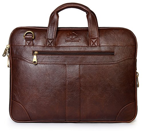 The Clownfish 15.6 inch Synthetic Leather Laptop and Tablet Bag - Macbook Pro, Macbook Air Laptop Bag (Brown) With 365 days warranty