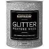 Rustoleum Glitzer-Wandfarbe, 1Liter, klar–Gold- & Silber-Finish erhältlich