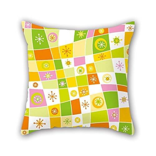 niceplw 18x 18pulgadas/45por 45cm geometría pillowcover, 2lados adorno y regalo para sala...