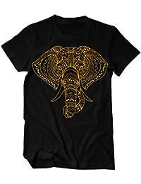 Hamsa Elefant Handzeichnung Boho Style Ornament T-Shirt Herren