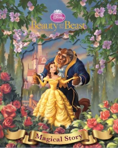 Disney Beauty and the Beast Magical Story with Amazing Moving Picture Cover