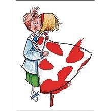 Das Kuss Pärchen - die romantische Liebeskarte nicht nur als Valentinskarte • auch zum direkt Versenden mit ihrem persönlichen Text als Einleger.
