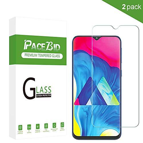Película protectora PaceBid para Samsung Galaxy A50, [Paquete 2] [Anti-Scratch] [Dureza 9H] [Anti-huella digital] Protector de pantalla de vidrio templado para Samsung Galaxy A50