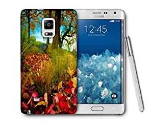 Snoogg Dry Leaves On Ground Printed Protective Phone Back Case Cover For Samsung Galaxy NOTE EDGE