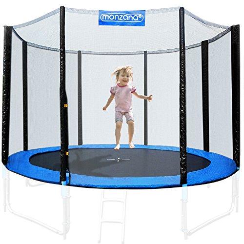 Filet de sécurité pour trampoline 8 poteaux - Réseau dense entrée fermable - Ø 430 cm