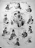 original old antique victorian print Monde Hebdomadaire 1876 de Budget de Héraut de Famille de Perforateur de Temps de Papiers de Regard
