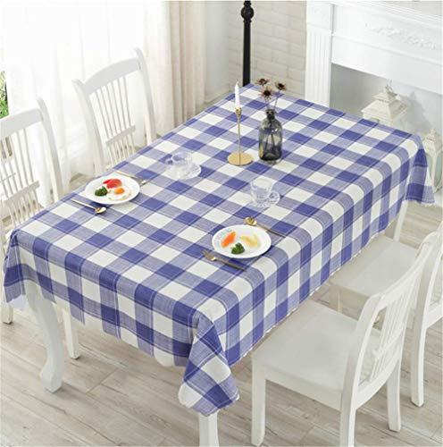 DOTBUY Rechteckige Tischdecke, Gitter Stil Rechteckig Abwaschbar PVC Tischdecke Pflegeleicht Garten