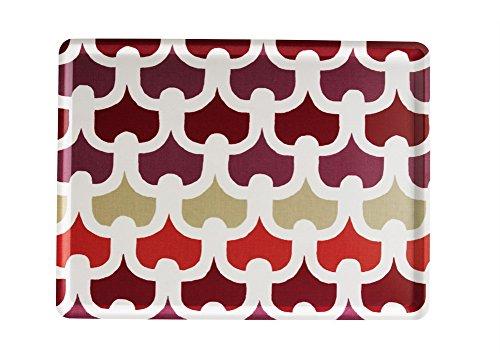 Platex 104030223S Plateau en stratifié Moyen Modèle décor Méli-Mélo Rouge