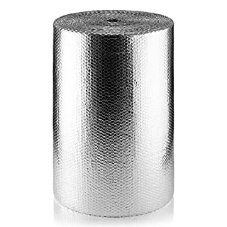 SuperFOIL MP 750mm SFBA Bubble Foil (1 Roll, 75cm x 50m) -37.5 sqm | 3mm Double Layer Heat Reflector & Radiant Barrier to Insulate Floors, Roofs and Walls