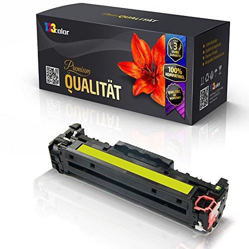 123Color Alternative Tonerkartusche für HP Color LaserJet CP1215 Color LaserJet CP1216 Color LaserJet CP1217 CB 542 A CB542 Yellow (Drucken Reman)