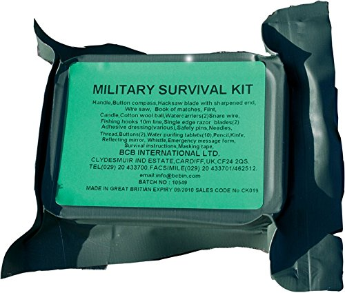 Bushcraft - Kit di sopravvivenza militare BCB, colore: Verde