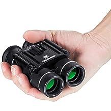 Mini Prismáticos QUNSE, Lentes ópticas Transparentes, Ultra-visión, Diseño Compacto de, Apto para Guardar en un Bolsillo o en tu equipaje