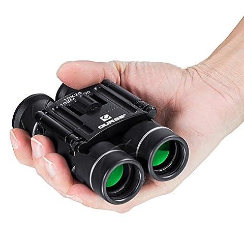 QUNSE Jumelles, Lentilles Optiques Claires, Ultra-vision, Design Compact, Adapté Pour le Transport Dans une Poche ou dans un Bagage