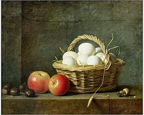 Photographic Print of The Basket of Eggs, 1788 (oil on canvas)
