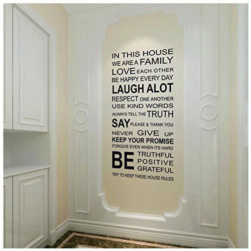 Hot Wall Sticker Humor Philosophy Citazione Love Family Words Wall Sticker Si amano essere positivi