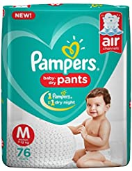 Pampers New Medium Size Diapers Pants (76 Count)