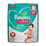 #9: Pampers New Diapers Pants, Medium, 76 Count