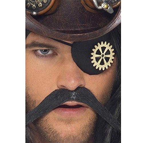 Smiffy's 28413 - Steam Punk Eyepatch mit Cog, (Kostüm Cog)