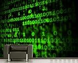 Vlies Fototapete - Matrix Code - 270x180 cm - Inklusive Kleister - Tapetenkleister – Bild auf Tapete – Bildtapete – Foto auf Tapeten – Wand – Wandtapete – Vliestapete – Wanddeko - Design