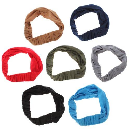 OUTERDO Moderne Haarband Stirnband Kopftuch Headband Kopfband fuer Sport Yoga Joggen Freizeit Atrovirens