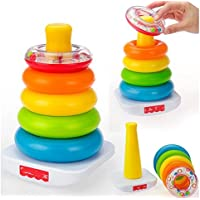 xinyiwei Baby Kid Sicherheit Colorful Puzzle-Spiel Spielzeug Tumbler Ringe Gestapelt Schichten Tower preisvergleich bei kinderzimmerdekopreise.eu