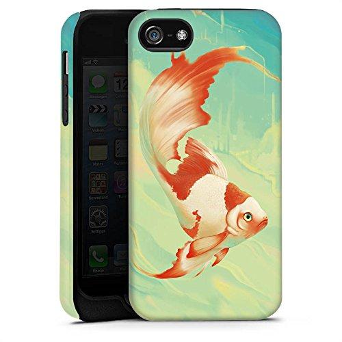 Apple iPhone 4 Housse Étui Silicone Coque Protection Poisson rouge Eau Water Cas Tough terne
