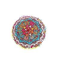 Contenuto del pacco:  1X indiana Mandala Floor cuscini rotondi Cuscino Bohemian caso della copertura Cuscini Cuscini( Solo custodia e no cuscino )  Portate colore nella vostra casa per la primavera con questo Super Groovy rotonde pouf cuscino...