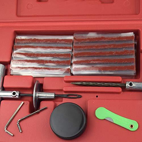 Lorsoul 57 PC/Satz Reifenreparatursatz Flach Leakage Reifen-Reparatur-Werkzeuge Auto-LKW-Motorrad-Reifen-Patch (Flache Reifen Werkzeuge)
