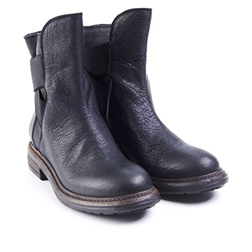 Biker Boot Donna Pelle Made in Italy, 40