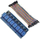 Aihasd Relay Module 8-Kanäle RelaisModul Brett 5V + Male Female Jumper Wire Kabel Steckbrücken Drahtbrücken für Arduino Raspberry Pi 3 B+
