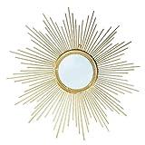 Specchio-  Specchio Decorativo Starburst Rotondo, specchi da Bagno Specchio da Parete in Metallo Contemporaneo a Forma di Raggi di Sole JING0415 (Dimensioni : 50cm)