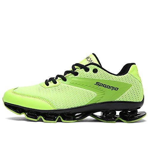 HYLM Scarpe sportive Uomini Scarpe da corsa Scarpe sportive all'aperto Scarpe da uomo Casual Uomo Green