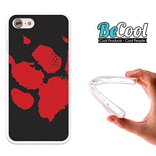 BeCool®- Coque Etui Housse en GEL Flex Silicone TPU Iphone 8, Carcasse TPU fabriquée avec la meilleure Silicone, protège et s'adapte a la perfection a ton Smartphone et avec notre design exclusif. Cha L1350
