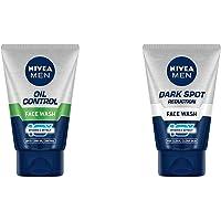 NIVEA Men Face Wash, Oil Control, 10x Vitamin C, 100g & NIVEA Men Face Wash, Dark Spot Reduction, 10x Vitamin C, 50g