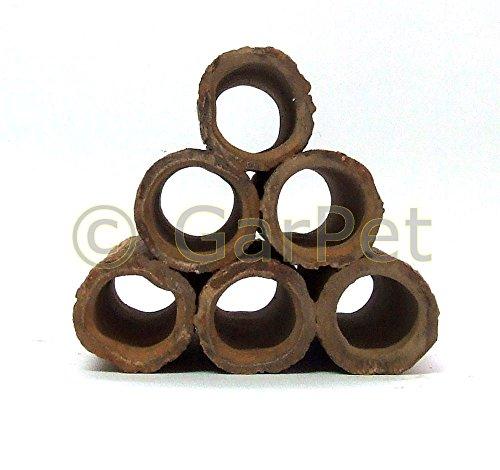 Tonröhren Pyramide Stapel Garnelen Krebse Höhle Stamm Röhre Nano Aquarium Deko -