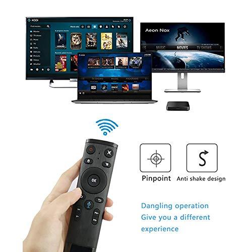 starter Air Mouse Mandos A Distancia-Remote Control Ratón Teledirigido del Aire De Q5 Bluetooth / 2.4GHz WiFi Voice con El Receptor del USB para La Caja Elegante De Android TV