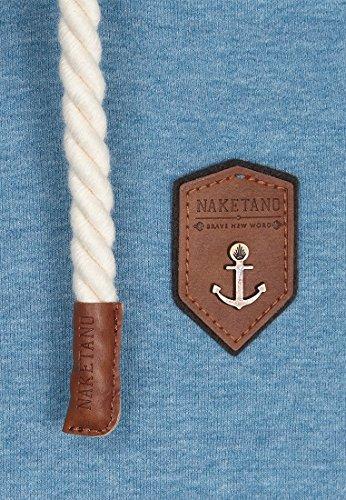 Naketano Male Zipped Jacket Schwarzkopf IV Light Blue Melange