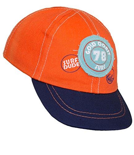 EveryHead Babybasecap Jungenbasecap Basecap Baseballcap Schirmmütze Sommermütze Sommercap Aufnäher Gummizug für Babys (EH-10018-S17-BJ0-43-47) in Orange, Größe 47 inkl. EveryHead-Hutfibel (Mode 2012 Neueste)