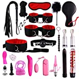 22Pcs Couple Adult SM Bondage Toy Set Plush Pelle di Nylon per Principianti