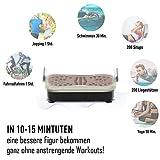 HOMCOM Vibrationsplatte Vibrationstrainer Vibrationsgerät Fitnesstrainer LED-Anzeige USB-Lautsprecher Trainingsbänder Fernbedienung - 4