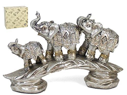 Figura decorativa familia elefantes Jagrat 15cm