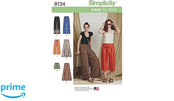 Simplicity Muster 8134 – Misses \'easy-to-sew Hosen und Shorts ...