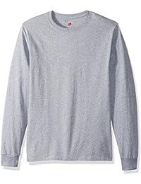 Hanes TAGLESS? Men`s Long-Sleeve T-Shirt - Best-Seller!