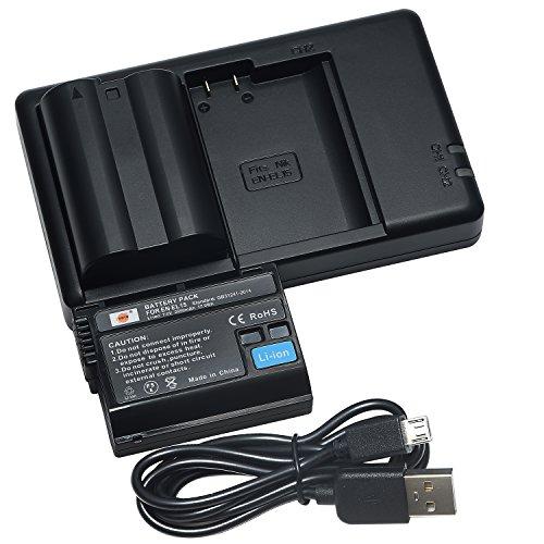 Digitale Slr-kamera-batterie (DSTE 2PCS EN-EL15(2550mAh/7.0V) Batterie Ladegerät Compatible für Nikon 1 V1,Z6,Z7,D7200,D7100,D750,D600,D810,D750,D800E,D810A,D800 Digital SLR Kamera,Nikon Batterie Griff MB-D11,MB-D12,MB-D15,MB-D17)